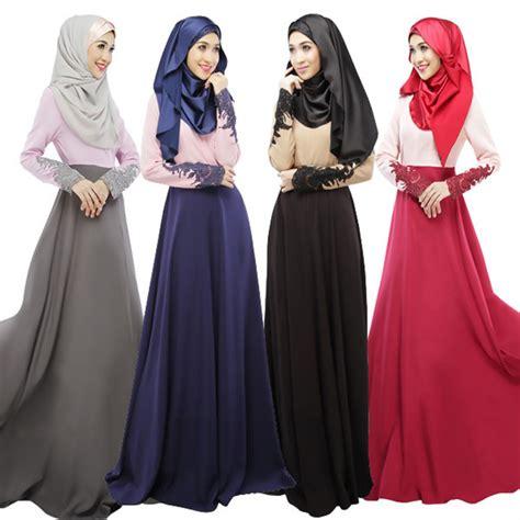 aliexpress bangladesh free shipping muslim new pattern spell sleeve lace dress