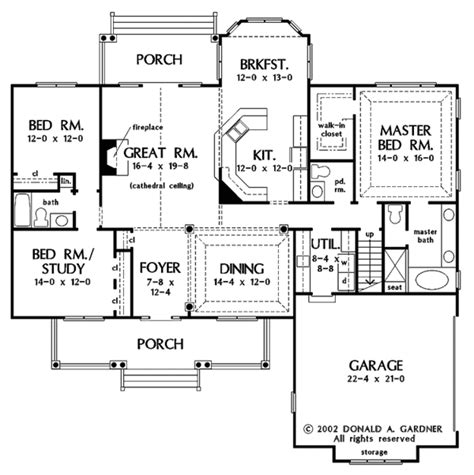 country style house plan  beds  baths  sqft