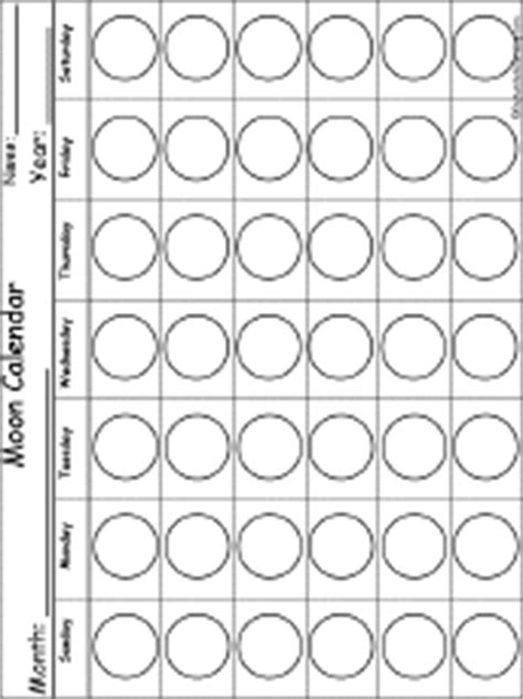 printable moon journal moon phases calendar enchantedlearning com