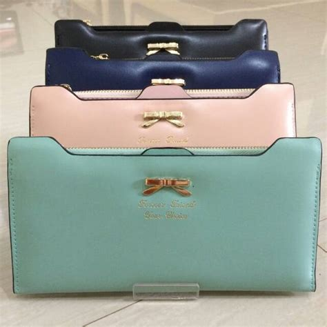 Wallet Dompet Lucu Import Wanita Murah Fashion Korea Trendi dompet wanita import korea murah ribbon wallet ryn fashion