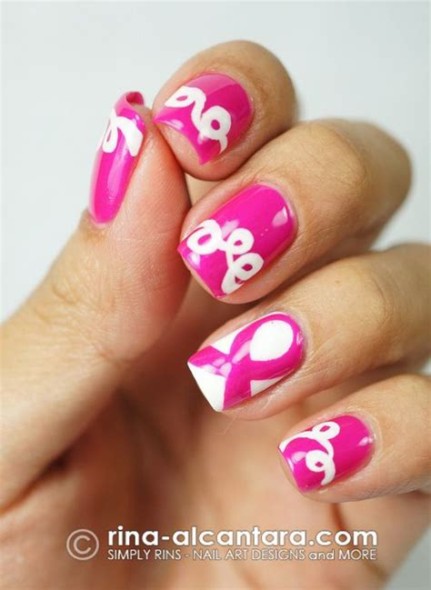 nail art ribbon design tutorial 17 best images about breast cancer awareness nail art on