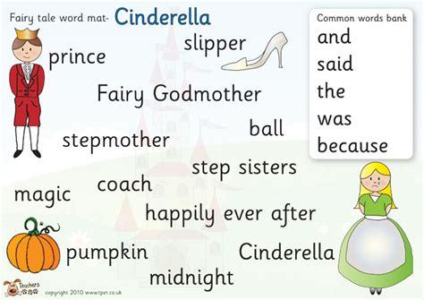 Tale Word Mat by S Pet Cinderella Word Mat Free Classroom