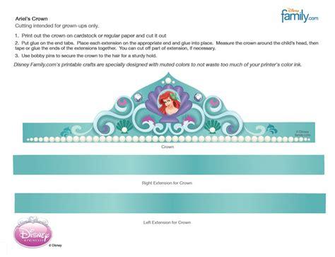 free printable mermaid crown ariel s crown free party printables pinterest crown