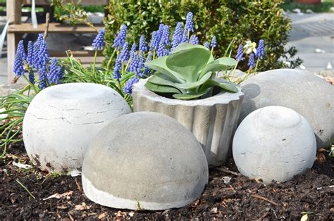 Cement Garden Decor Concrete Garden Orbs 183 How To Make A Garden Decoration 183 Home Diy On Cut Out Keep