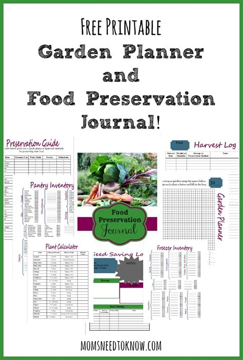 printable garden planner free printable garden planner and food preservation