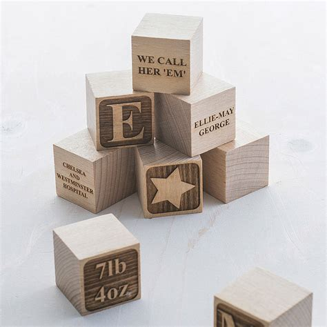 personalised baby keepsake building block by