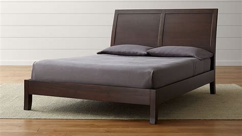 dawson clove queen sleigh bed reviews crate  barrel