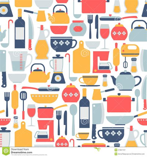 kitchen pattern vector free cooking pattern stock vector image 41957727