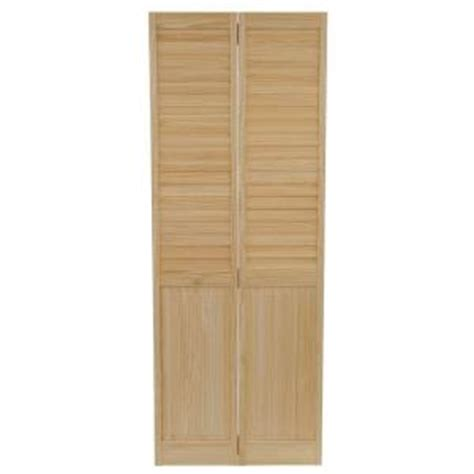 Unfinished Louvered Cabinet Doors Bay 30 In X 80 In 30 In Plantation Louvered Solid Unfinished Panel Wood