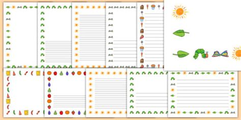 page borders to support teaching on the very hungry