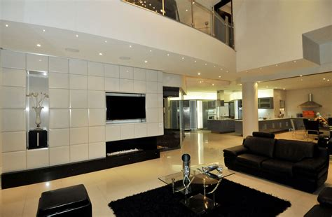 all black living room cal kempton park designed by nico van der meulen