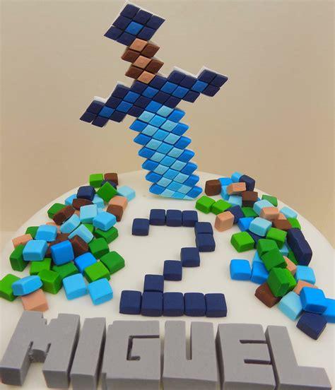 Handmade Minecraft - handmade minecraft cake toppers squares personalised