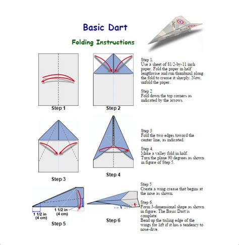 printable paper plane instructions 16 paper airplane templates free pdf documents download