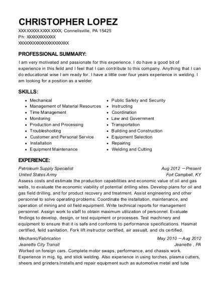 Petroleum Supply Specialist Sle Resume by Best Resumes In Pennsylvania Resumehelp