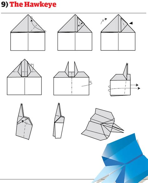 How To Make The Hawkeye Paper Airplane - origami paper planes 171 embroidery origami