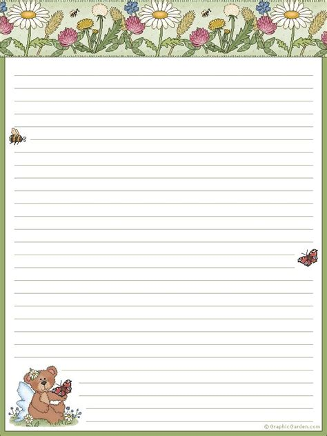 printable stationery books 41 best images about note book paper on pinterest kids