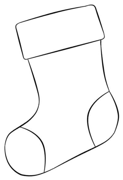 stocking outline coloring page 1000 ideas about christmas templates on pinterest