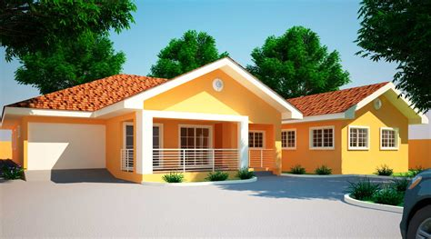four bedroom houses house plans ghana jonat 4 bedroom house plan in ghana