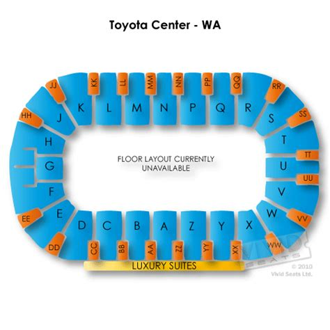 Toyota Center Detailed Seating Chart Toyota Center Wa Seating Chart Seats