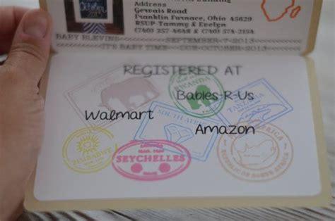 baby shower safari passport invitation