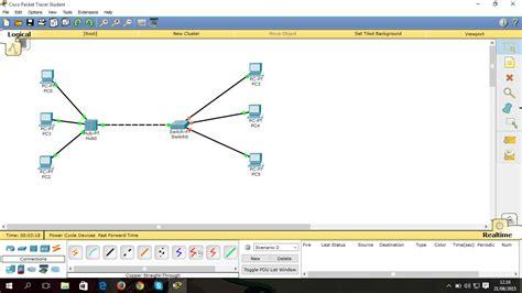 cara membuat jaringan lan menggunakan hub cara membuat simulasi jaringan lan menggunakan cisco paket