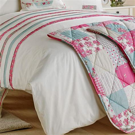 Patchwork Bedspreads Uk - dreams n drapes petticoat patchwork applique quilted