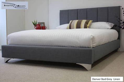Denver Bed Frame Upholstered Linen All Colours Sizes Hot Bed Frames Denver