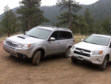 Toyota Subaru Forester Throwback Thursday 2011 Toyota Rav4 Vs Subaru Forester