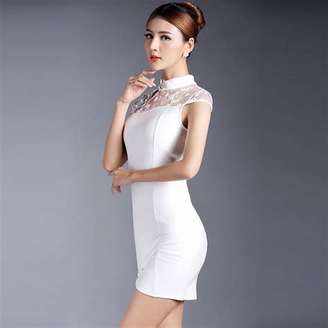 Sleeve Qipao enticing cap sleeve qipao cheongsam dress white