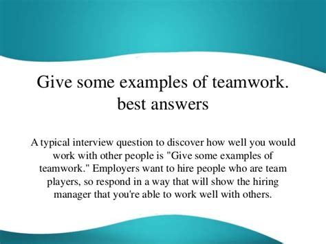 7 interview questions to help you find a real team player