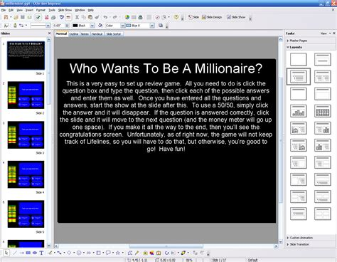 Powerpoint Millionaire Download Who Wants To Be A Millionaire Powerpoint