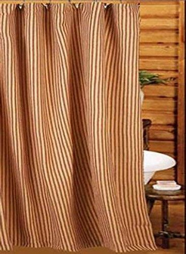 red and tan striped curtains new primitive country farmhouse bath red tan ticking