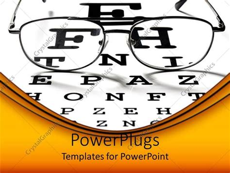powerpoint template ophthalmology theme optical view
