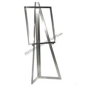 Easel Floor L Satin Chrome Bauhaus Series Floor Standing Easel With Poster Holder