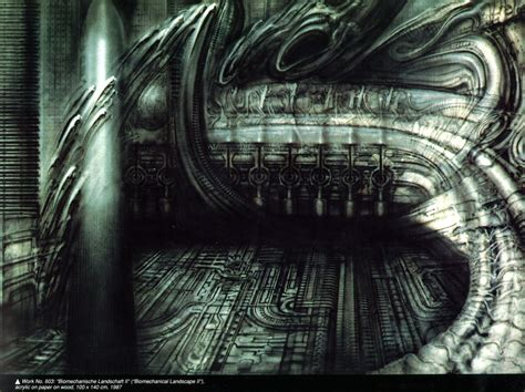 H Painting by H R Giger Legendary Surrealist Artist The