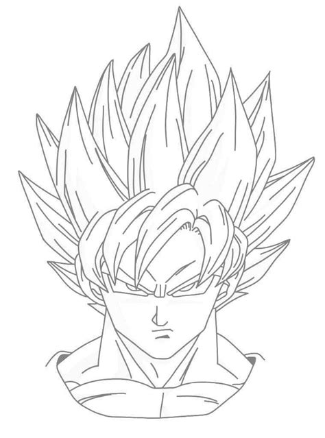 imagenes de goku a blanco dibujos para colorear de dragon ball z