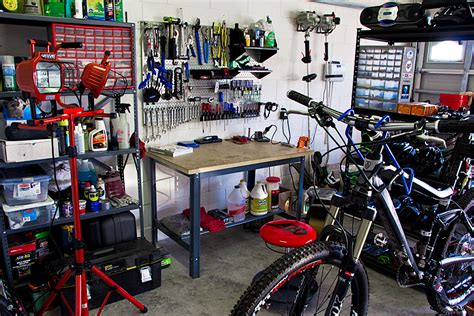 bike workshop ideas home bike repair shop is 1 year old and has probably