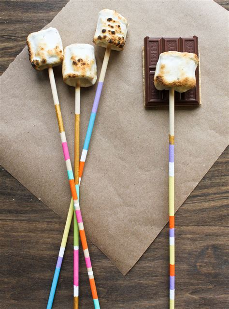 roasting sticks diy marshmallow roasting sticks gt gt www mkatsafar crafts more