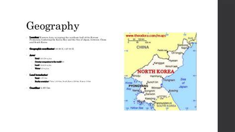 5 themes of geography north korea north korea