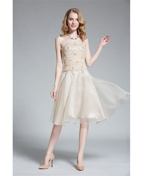 Special Discount Last Stock Only Baju Pesta Wedding lovely strapless organza homecoming dress with beading dk314 88 gemgrace