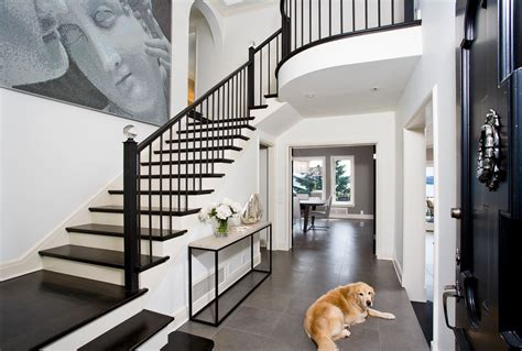Home Design Ideas Sri Lanka by Black Stair Railing Hall Transitional With Banister