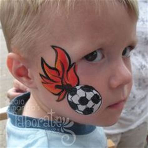 soccer ball with flames boy s face painting by let s wk voetbal worldcup soccer 2014 on pinterest holland