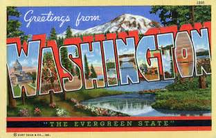 Greetings From Greetings From Washington Quot The Evergreen State Quot Large