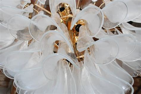 1960s Mazzega White Shell Chandelier At 1stdibs White Shell Chandelier
