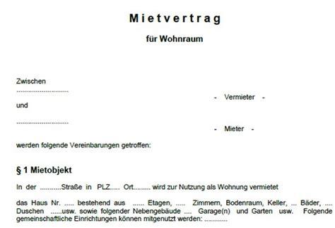 mustermietvertrag wohnung word vorlage mietvertrag wohnung freeware de