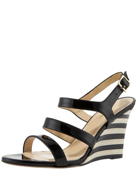 Rock Republic Hilary Striped Wedge by Lyst Kate Spade New York Striped Wedge Sandal In Black