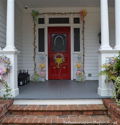 decorating front porch easter decorations