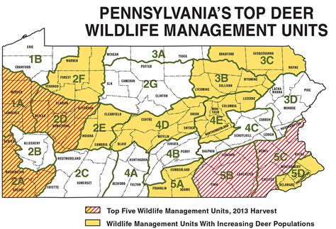 pa wmu map pennsylvania deer forecast for 2014 fish