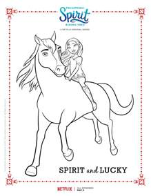 spirit riding free spirit lucky coloring mama likes