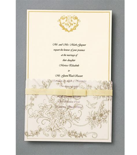 printable wedding invitations wilton wilton 174 25 ct gold wedding toile invitation kit at joann com